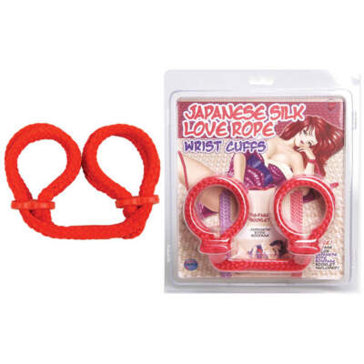 Topco Silky Japanese Bondage Wrist Cuffs in Red
