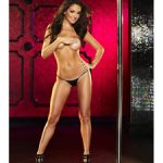 Lapdance - Mini V String Panty LC-201 Black OS