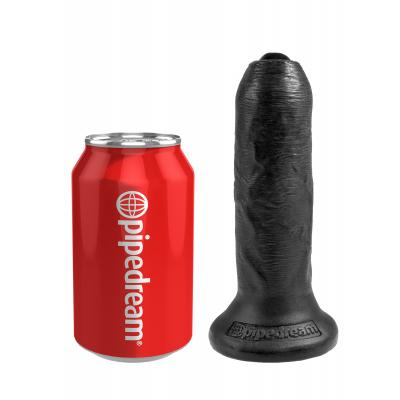 King Cock 6 in. Uncut - Black - King Cock - PD5560-23 - 603912750799