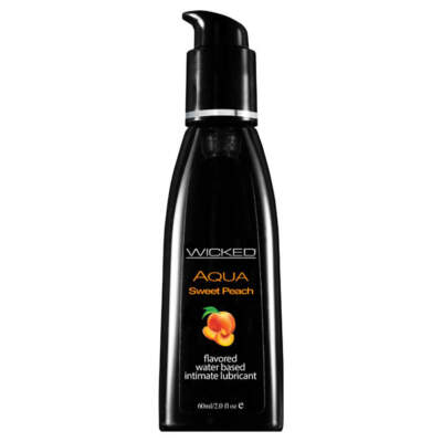 Wicked Aqua Sweet Peach Flavoured Lubricant 60ml