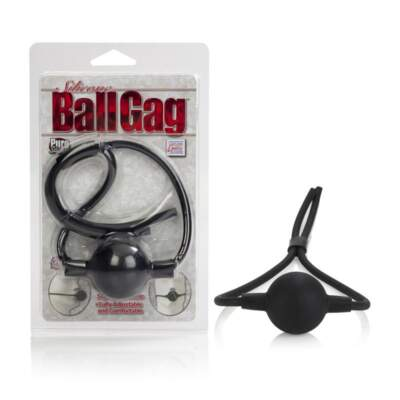 Calexotics Silicone Ball Gag Black SE-2739-03-2