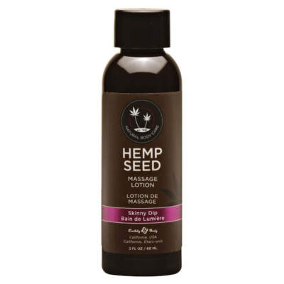 Earthly Body Hemp Seed Massage Lotion Skinny Dip Vanilla Fairy Floss ML121 814487022857