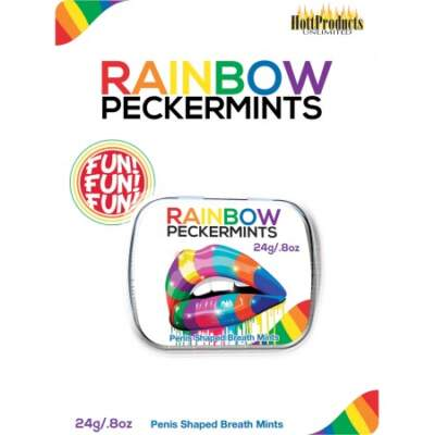 Hott Products Rainbow Pecker Mints Metal Tin 24g 818631032136