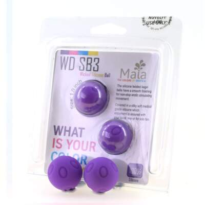 Maia Toys Weighted Silicone Kegel Balls Purple WD SB3 18-09-L2 5060311470577