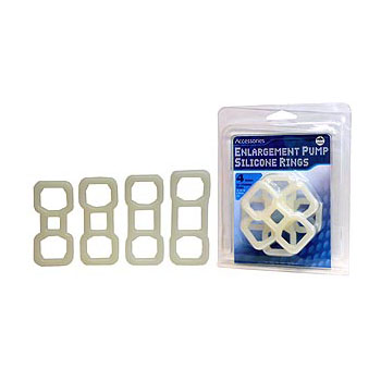 NMC Enlargement Pump Silicone Rings White 3-Sizes 3-Pack 2R3906 4892503100358