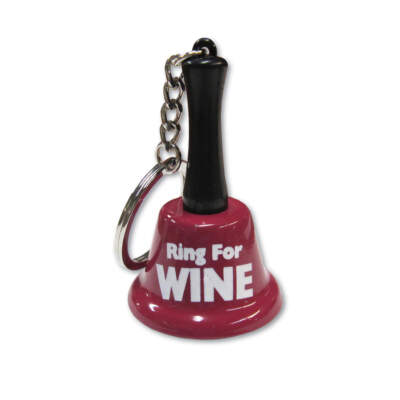 OZZE Creations Novelty Ring For Wine Keychain Bell OZ-KEY-10-E 623849032416