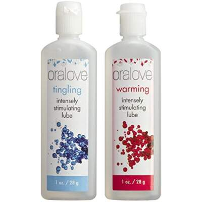 Oralove Dynamic Duo Lickable Lubes Warming Tingling 2 pack 1355-05-BX