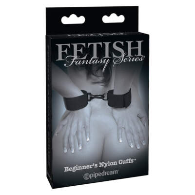 Pipedream Fetish Fantasy Limited Edition Beginners Nylon Cuffs Black PD4466-23 603912741292