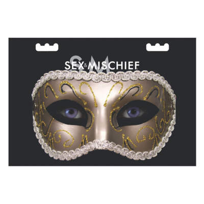 Sex and Mischief Grey Masquerade Mask SS10081 646709100810