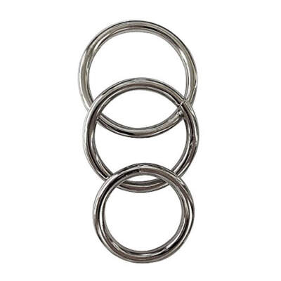 Sportsheets Manbound Metal Cock Ring 3 Pack SS95018 646709950187