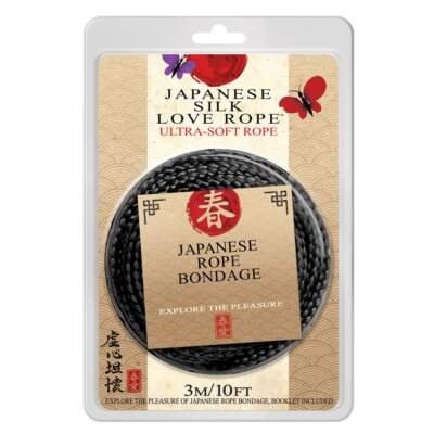 Topco Japanese Silk Love Rope 3 Metre Black 1014696 051021146963