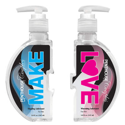 Topco Penthouse MAKE LOVE Couples Warming Tingling Lubricant Twin Pack 2 x 147ml Pump Packs 1091357 051021913572