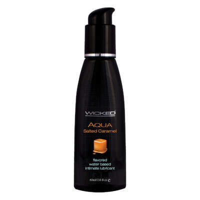 Wicked Aqua Salted Caramel Lubricant 2oz 60ml 713079903225