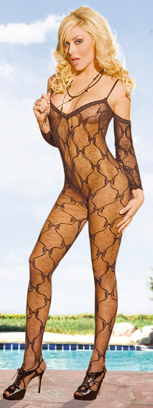 Electric Lingerie - Bow Laced Bodystocking