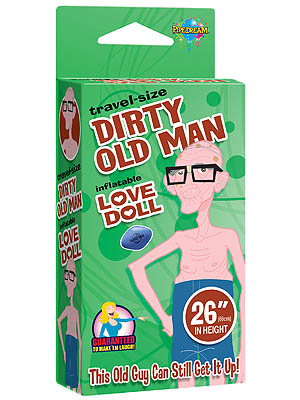 Dirty Old Man - Inflatable Love Doll - Travel Size