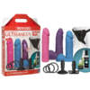 Vac-U-Lock Dual Density UltraSkyn Colours Set - Coloured Strap-On Kit - 3 Dong Set - 1051-10-BX - 782421057183