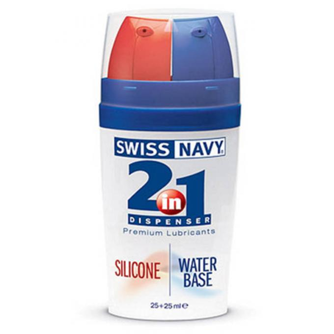 Swiss Navy 2 In 1 Silicone Water Based Premium Lubricants 25+25ml