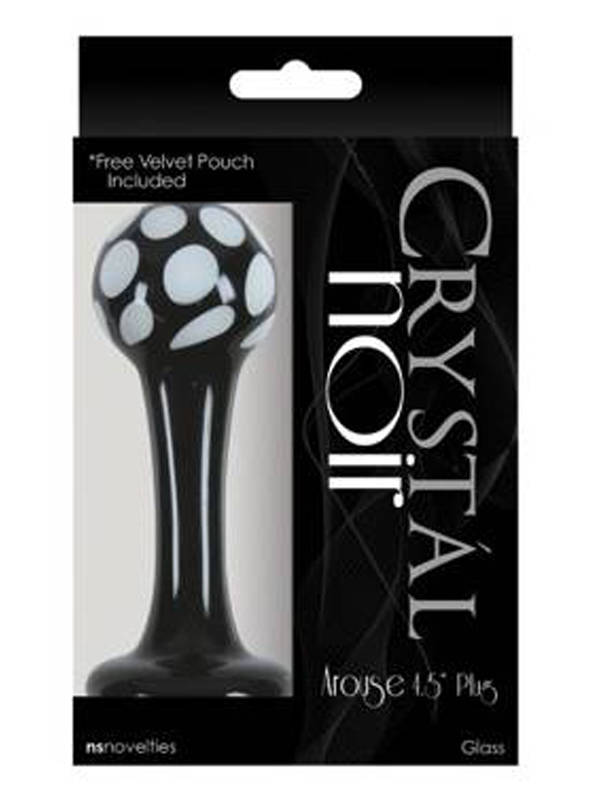 Crystal Noir Arouse Plug Black