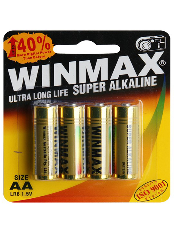Winmax AA Super Alkaline Batteries BP-4 (4 Pack)
