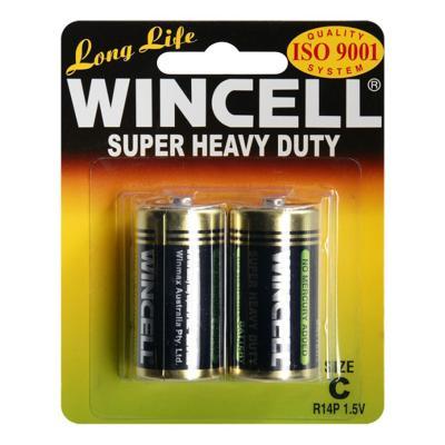 Wincell C Super Heavy Duty Batteries BP-2 (2 Pack)