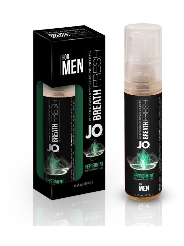 JO Pheromone Breath Fresh Mist - For Men - Peppermint 3.5ml (12 Pack)