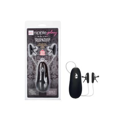 nipple play Vibrating Heated Nipple Teasers - Black