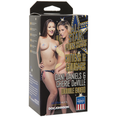 DOC JOHNSON - Kittens and Cougars Dani Daniels-Pussy (Kitten) and Cherie DeVille - Ass (Cougar) Vanilla - 5423-10-BX