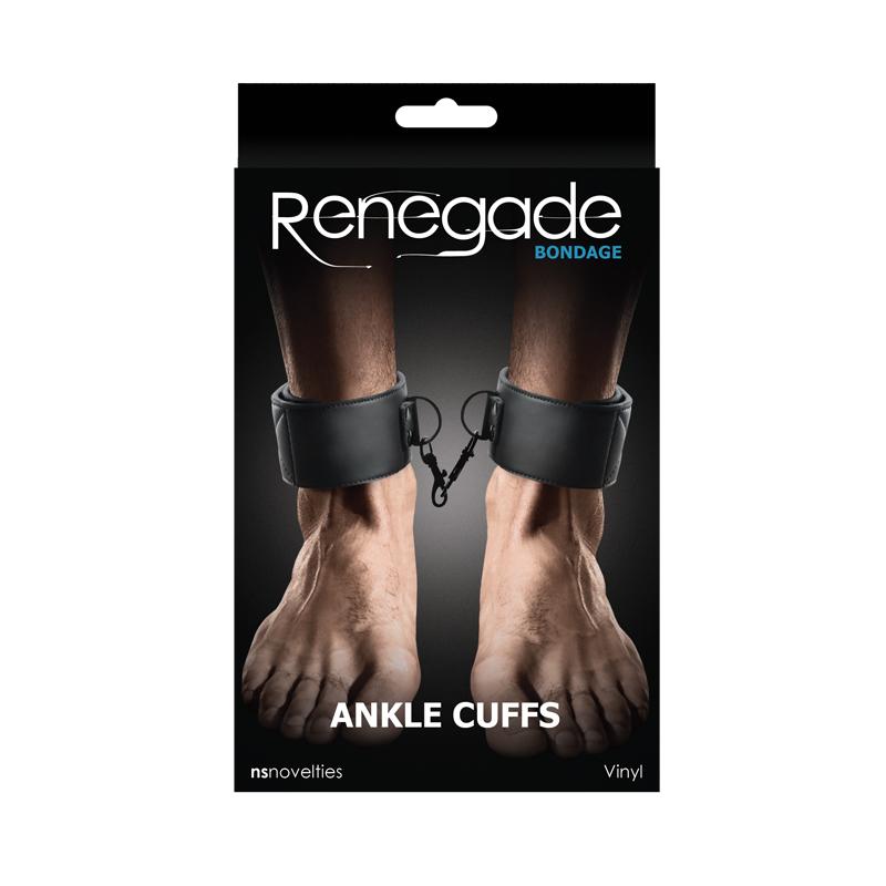 RENEGADE - Renegade Bondage Ankle Cuff Black - NSN-1194-13