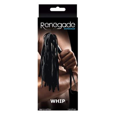 RENEGADE - Renegade Bondage Whip Black - NSN-1195-13