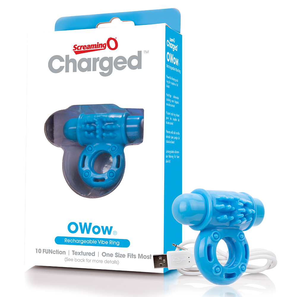 SCREAMING O - Charged OWow Vooom Mini Vibe (6) - Blue - AOW-BU-110