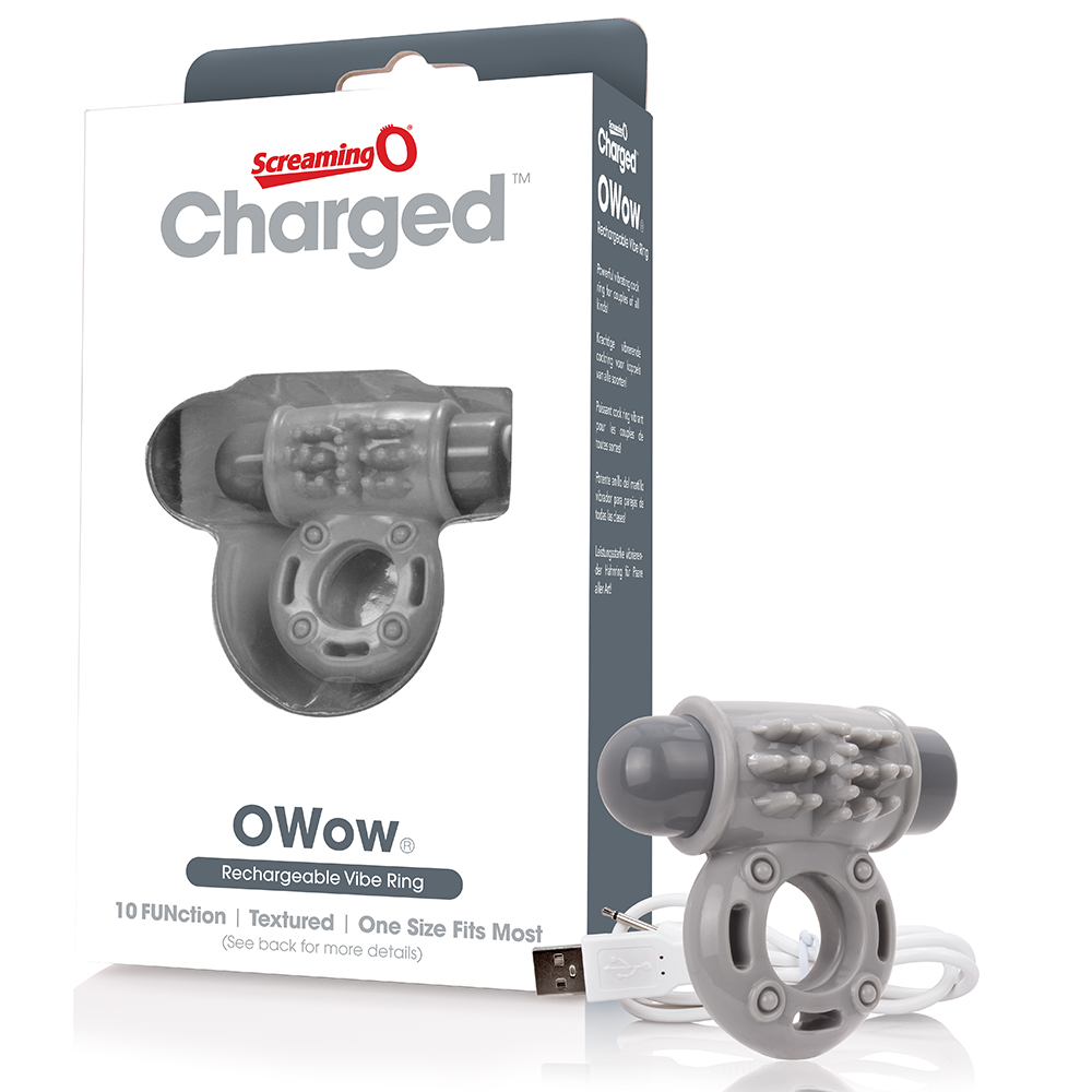 SCREAMING O - Charged OWow Vooom Mini Vibe (6) - Grey - AOW-G-110