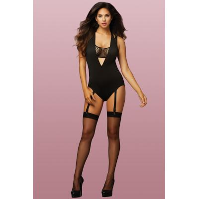 Seven Til Midnight - Game Changer Bodysuit 10756P Black O/S - STM-10756P-Black-O/S