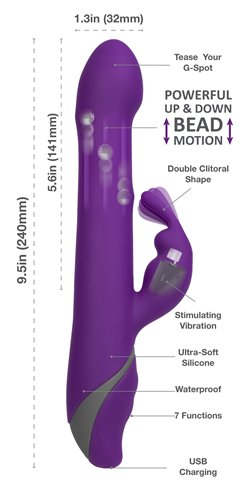 BMS ENTERPRISES - Commotion The Rhumba Rabbit Purple - 95015 -  at Black Knight Erotica Adelaide's Largest Adult Shop!