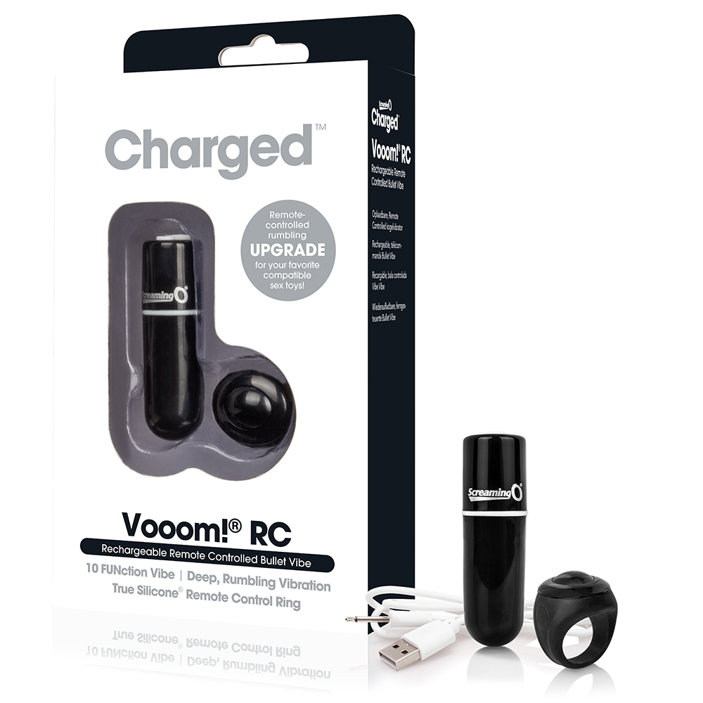 Charged Vooom Remote Control Bullet - Black Single - SCREAMING O - AVR-BL-101 - 817483012938