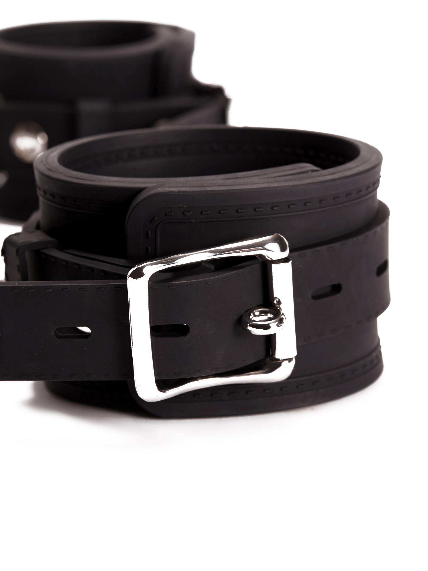 Pornhub Silicone Wrist Buckle Cuffs Black - Pornhub - 94872 - 5032264449191