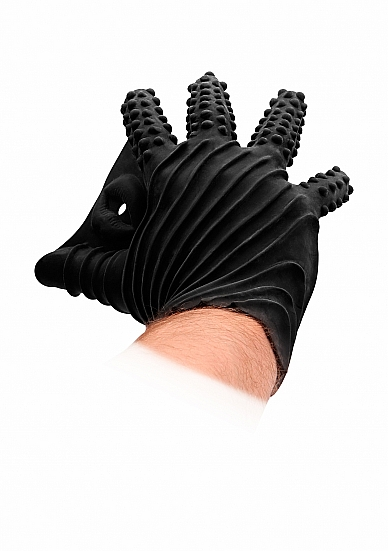 Fist It Masturbation Glove - Black - SHOTS TOYS - FST003BLK - 8714273945730