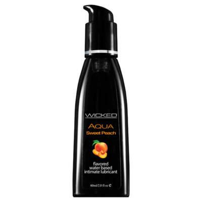 Wicked Aqua Sweet Peach Flavoured Lubricant 60ml