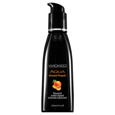 Wicked Aqua Sweet Peach Flavoured Lubricant