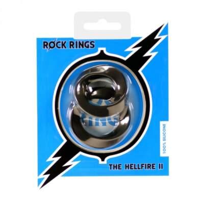 ABS Holdings Rock Rings Hellfire II Cock Ring 2 Pack Black K0010B10PTCS 5060365094682