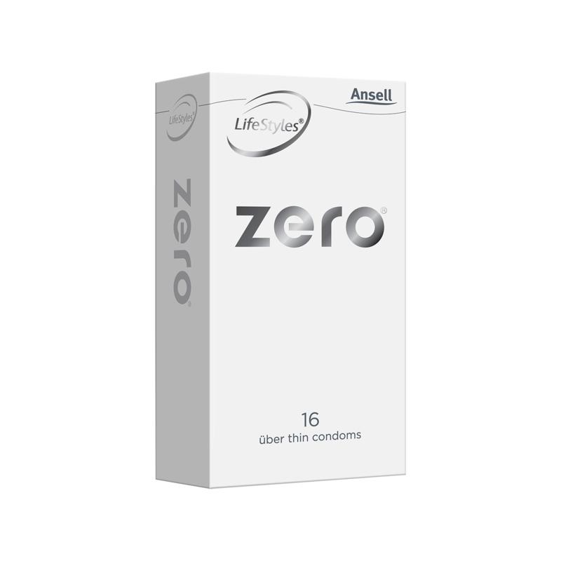 ANSELL LIFESTYLES ZERO Uber Thin Condoms 16pk 25480 9310201064680