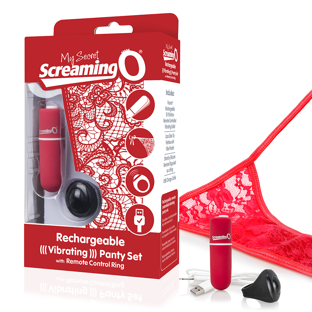 Rechargeable Vibrating Panty Red