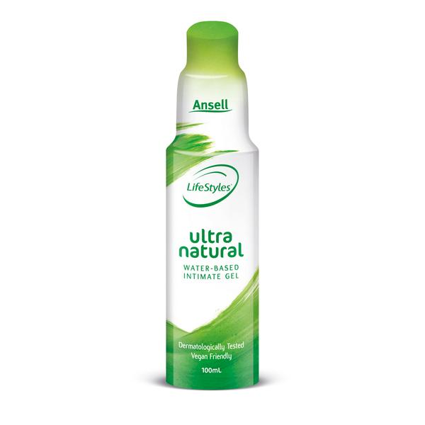 Ansell Lifestyles Ultra Natural Water Based Gel Lubricant Vegan Friendly 100ml 9310201064352