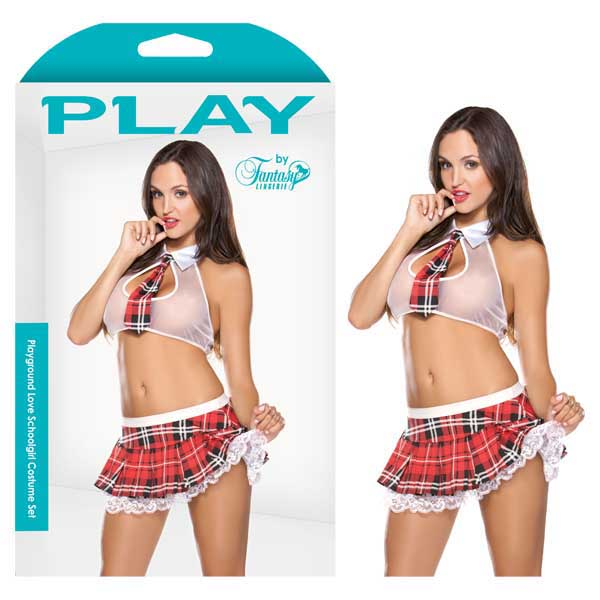 PLAY Playground Love Schoolgirl Costume Set - M/L - B-PL1504-ML - 811432020746