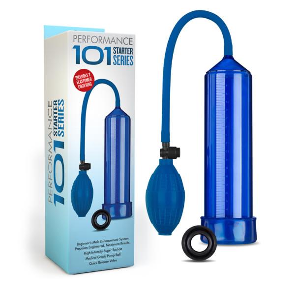 BL-07091 - Blush Novelties - Blue Penis Pump - 702730684320