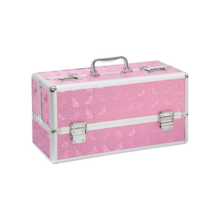 BMS Factory Pink large lockable vibrator case 098-16