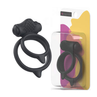 BSwish BCharmed Basic Plus Vibrating Dual Cock Ring Black BSBBC0013 Multiview