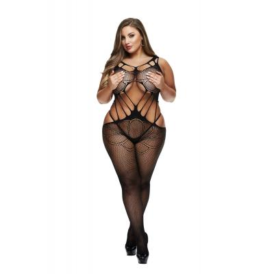 Baci Lingerie White Label Criss cross crotchless bodystocking Queen BLW5008 Q 4890808200346