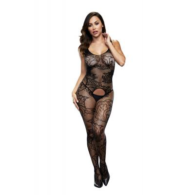 Baci Lingerie White Label Crotchless jacquard bodystocking BLW5006 4890808200292