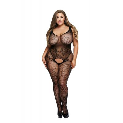 Baci Lingerie White Label Crotchless jacquard bodystocking Queen BLW5006 Q 4890808200308