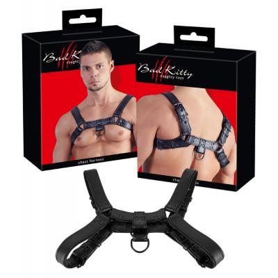 Bad Kitty Chest Harness One Size OS Black 2492520 4024144370955